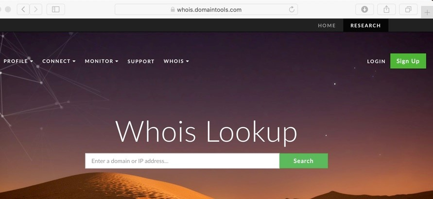 Use Whois to help spot a fake website