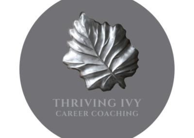 Thriving Ivy logo created by Seahorse Creative